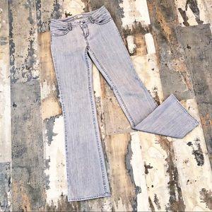 CAbi Grey Denim Bootcut Jeans